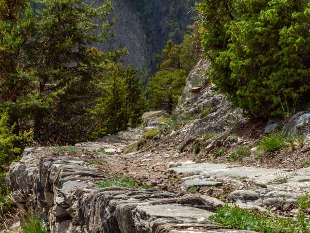 Stockalperweg bei der Saltinaschlucht