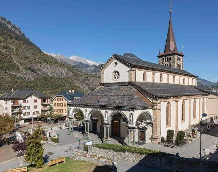Pilgern Schweiz Wallfahrtskirche Glis