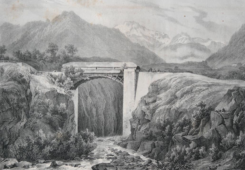 alte Napoleonsbrücke, oberhalb von Brig